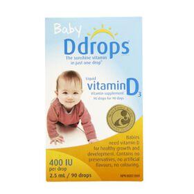 D Drops Baby Liquid Vitamin D3 Vitamin Supplement 90 Drops