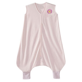 HALO SleepSack Early Walker – Pink Flower - Lightweight Knit - Extra Large