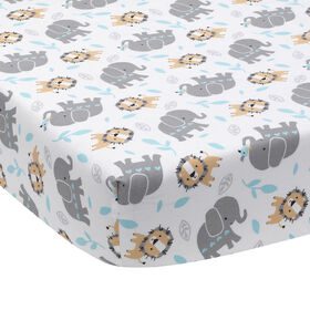 Bedtime Originals - Jungle Fun Fitted Crib Sheet - Multicolor