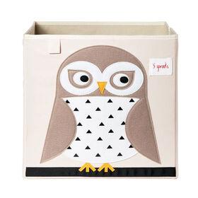 3 Sprouts Storage Box - Owl  3 Sprouts Storage Box - Owl