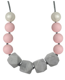 Itzy Ritzy Teething Happens Chewable Teething Necklace Extra Blush Petite Strand