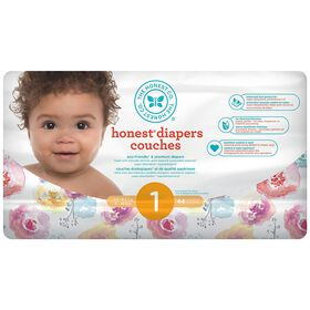 Honest Diapers Size 1 Rose Blossom