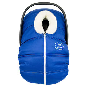 Petit Coulou  Winter car seat cover - Blue/Ivory