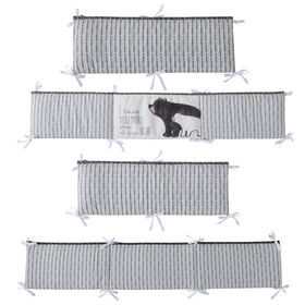 Levtex Baby Bailey Charcoal and White Arrow 4-Piece Crib Bumper
