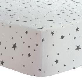 Kushies - Fitted Sheet - Black Stars||Kushies - Fitted Sheet - Black Stars