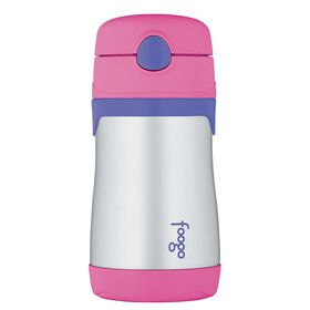 Thermos Foogo - Leak-proof Stainless Steel Straw Bottle - Pink