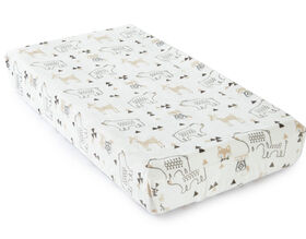 Levtex Baby Bailey Woodland Themed Plush Changing Pad Cover - Taupe and Grey||Levtex Baby Bailey Woodland Themed Plush Changing Pad Cover - Taupe and Grey