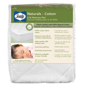 Sealy Naturals Cotton Crib Mattress Pad||Sealy Naturals Cotton Crib Mattress Pad