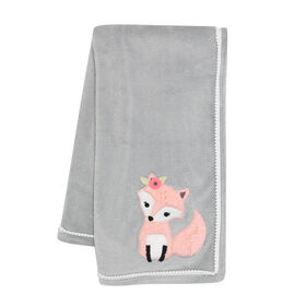 Lambs & Ivy - Friendship Tree Baby Blanket - Gray