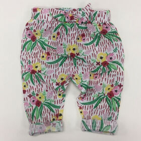 Coyote and Co. All over floral pull on pant with bow detail - size 12-18 months