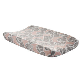 Lambs & Ivy Calypso Leaves Changing Pad Cover - Pink/Gray||Lambs & Ivy Calypso Leaves Changing Pad Cover - Pink/Gray