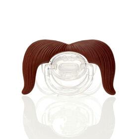 Mustachifier - The Cowboy Mustache Pacifier, Brown