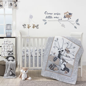 Bedtime Originals - Little Rascals 3-Piece Crib Bedding Set - Gray||Bedtime Originals - Little Rascals 3-Piece Crib Bedding Set - Gray