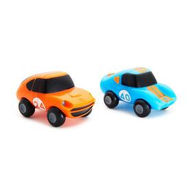 Magnet Motors Bath Toys 2-Pack - Blue/Orange