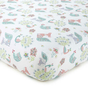 Levtex Baby Fiona Collection Print Fitted Crib Sheet||Levtex Baby Fiona Collection Print Fitted Crib Sheet
