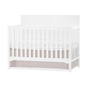 Wilmington Flat Top 4-in-1 Convertible Crib, Matte White