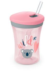 NUK Evolution Straw Cup 8 oz. - Pink