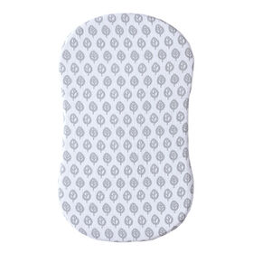 HALO Innovations Bassinest Fitted Sheet - Muslin de coton - Feuille grise.