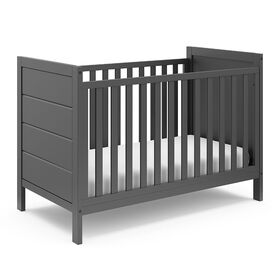 Storkcraft Nestling 3-in-1 Convertible Crib - Gray||Storkcraft Nestling 3-in-1 Convertible Crib - Gray