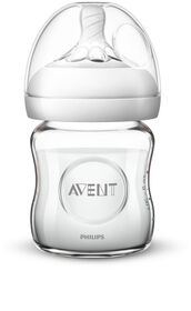 Philips Avent Natural Glass Baby Bottle, 4oz, 1-Pack