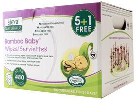 Aleva Naturals Bambo Baby Serviettes - 480 Count.
