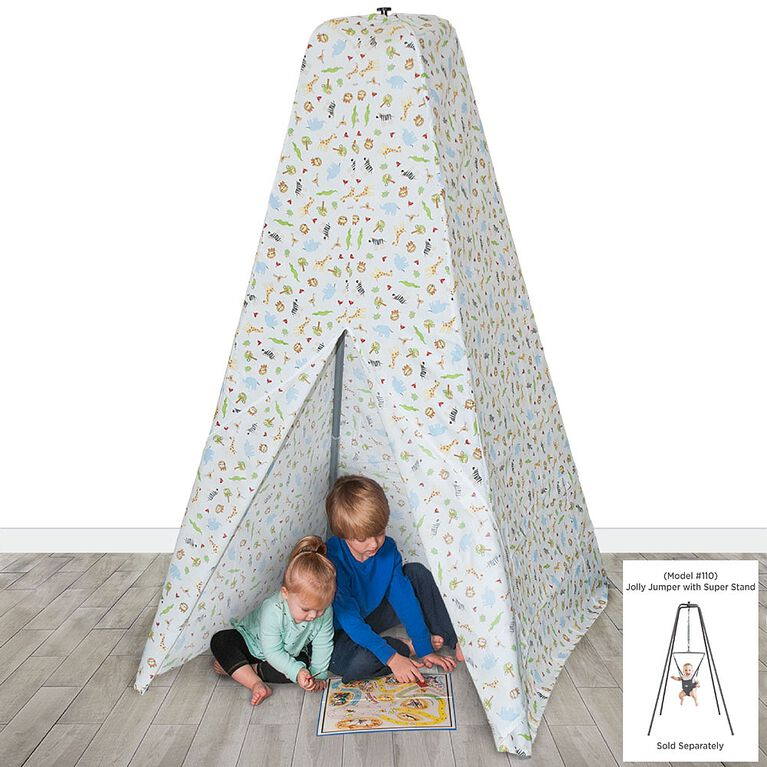 Teepee Tent For Jolly Jumper With Super Stand White