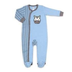 Koala Baby Cotton Sleeper Blue w/ Zebra, 3-6 Months