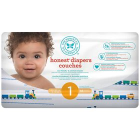 Honest Diapers Size 1 Trains