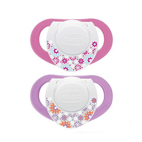 Chicco NaturalFit 2-Pack Deco Orthodontic Pacifier 4 Months+ - Pink