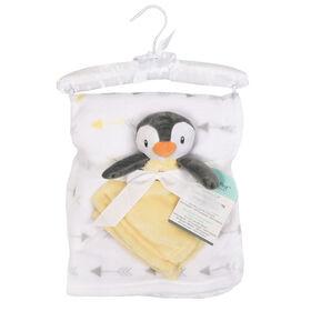 Baby's First By Nemcor Ensemble de 2 pièces- Penguin avec une couverture design flèche.
