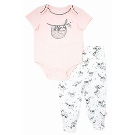 Mini Heroes Bodysuit & Footed Pant Set - 9 Months