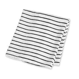 Lulujo Bamboo Muslin Swaddle Blanket - Messy Stripe  Lulujo Bamboo Muslin Swaddle Blanket - Messy Stripe