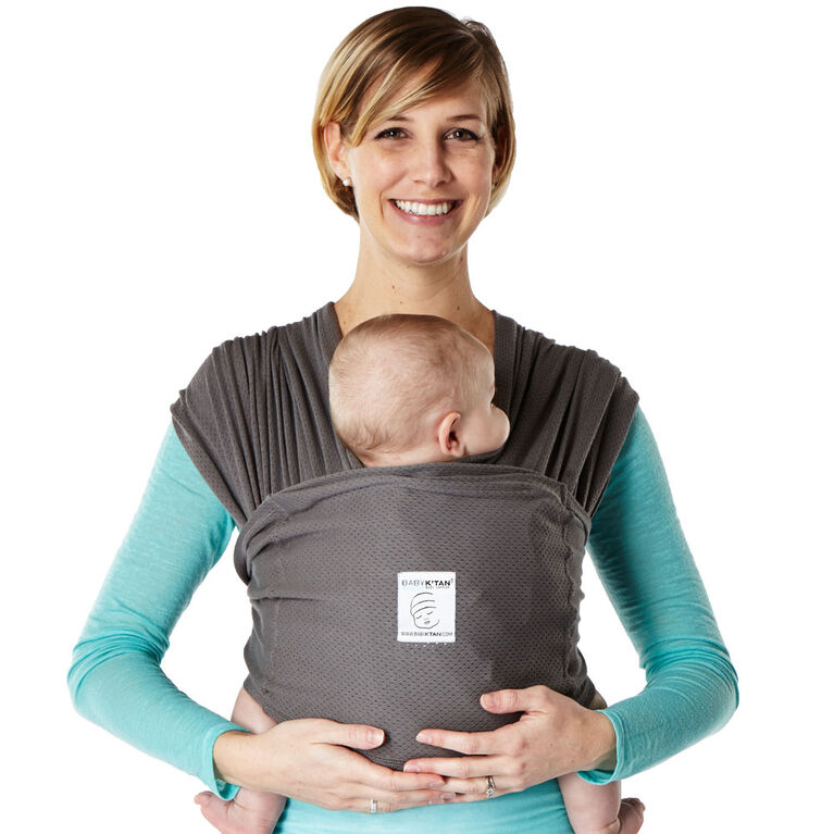Baby K'Tan Breeze Baby Carrier - Charcoal Small
