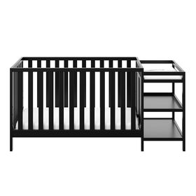 Storkcraft Pacific 4-in-1 Convertible Crib and Changer - Black