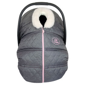 Petit Coulou winter car seat cover -  Grey