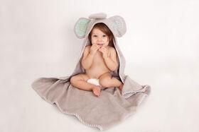 Zoocchini Baby Towel - Elle the Elephant