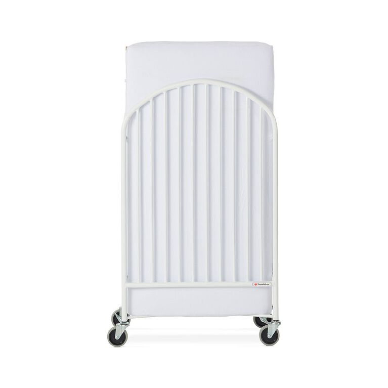Foundations Pinnacle Full Size Folding Steel Crib White