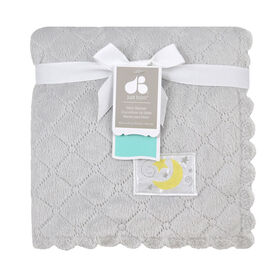 Just Born Quilted Plush Blanket - Grey