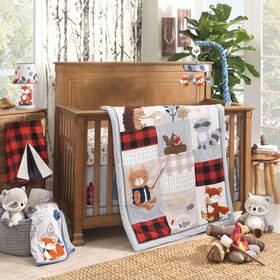 Lambs & Ivy - Little Campers 3-Piece Crib Bedding Set