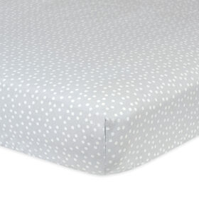 Gerber Gray Dots Fitted Crib Sheet