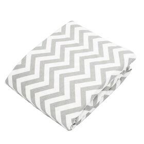 Kushies Playpen Fitted Sheet - Grey Chevron||Kushies Playpen Fitted Sheet - Grey Chevron