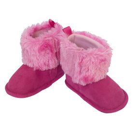 So Dorable Pre Walker G - Suede Boot Bright Pink   6-9M