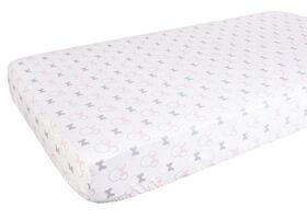 Drap de contour pour lit de bébé de Minnie Mouse.
