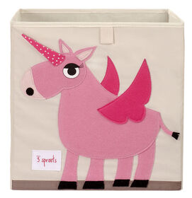 3 Sprouts Storage Box Unicorn - Pink  3 Sprouts Storage Box Unicorn - Pink