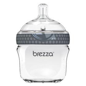Biberon en verre gris, 5 oz de Baby Brezza.