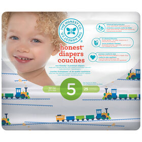 Honest Diapers Size 5 Trains
