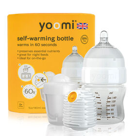 yoomi Feeding System-5oz Easy-Latch™ Bottle with Warmer and Quick Pod Recharger