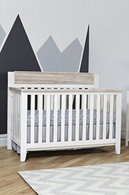 Suite Bebe Hayes 4-in-1 Convertible Crib, White/Natural