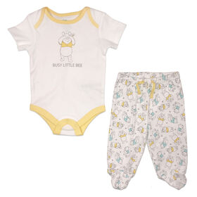 Disney Winnie the Pooh Bodysuit with Pant - Yellow, 12 Months