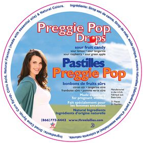 Preggie Pop Drops - Sour Fruit Candy